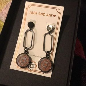 NEW IN BOX Alex and Ani cosmic balance earrings